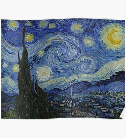 Vincent Van Gogh - Starry Night,  Impressionism .Starry Night, 1889 Poster