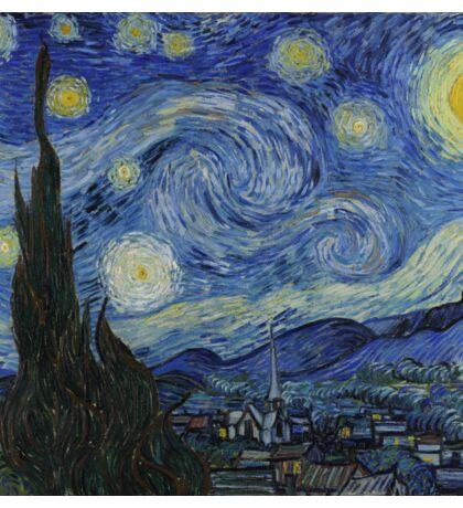 Vincent Van Gogh - Starry Night,  Impressionism .Starry Night, 1889 Sticker