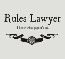 DnD Rules Lawyer T-Shirt