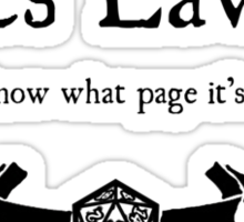 DnD Rules Lawyer Sticker