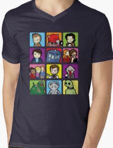 Doctor Squares Mens V-Neck T-Shirt