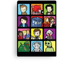 Doctor Squares Canvas Print