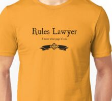 WoD Rules Lawyer Unisex T-Shirt