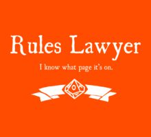 WoD Rules Lawyer - For Dark Shirts by Serenity373737