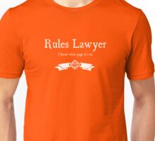 WoD Rules Lawyer - For Dark Shirts Unisex T-Shirt