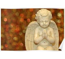 Praying decoration angel Poster