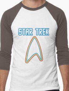 Star Trek Rainbowish Font  Men's Baseball ¾ T-Shirt