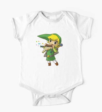 Link playing One Piece - Short Sleeve