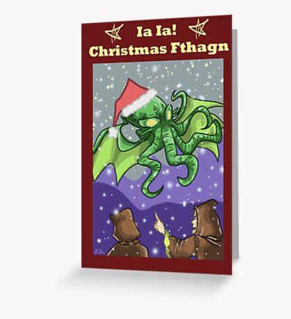 Christmas Fthagn! Greeting Card