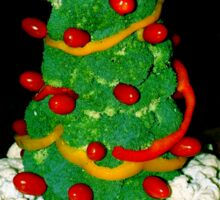 Veggie Christmas Tree Sticker