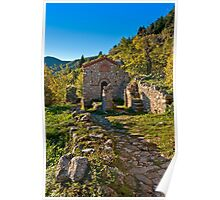 Saint Christopher little church in Mystras, Peloponnese Poster