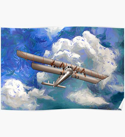 Sikorsky Ilya Muromets -  the World's First  Four Engine Passenger Plane/ Heavy Bomber Poster