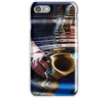 saxophone - blue iPhone Case/Skin