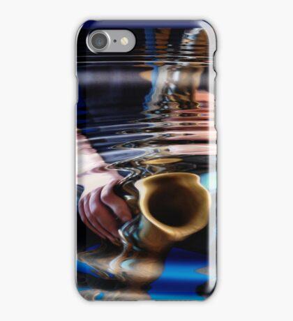 saxophone - blue iPhone Case/Skin