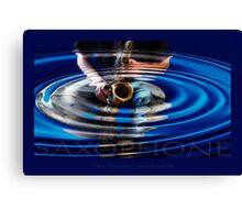 saxophone - blue Canvas Print