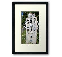 the robot Framed Print
