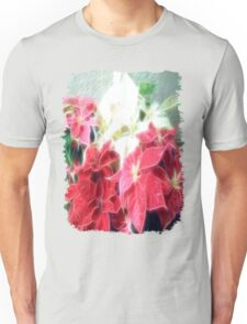 Mixed color Poinsettias 3 Angelic Unisex T-Shirt