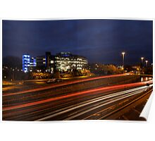 Light Trails at Northumbria University Poster