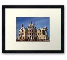 Romanesque - Architectural design of Marshall, Texas courthouse Framed Print