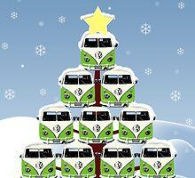 VW Camper Merry Christmas Tree by splashgti