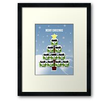 VW Camper Merry Christmas Tree Framed Print