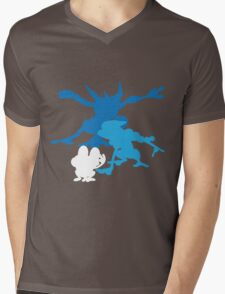 Froakie Frogadier Greninja Mens V-Neck T-Shirt