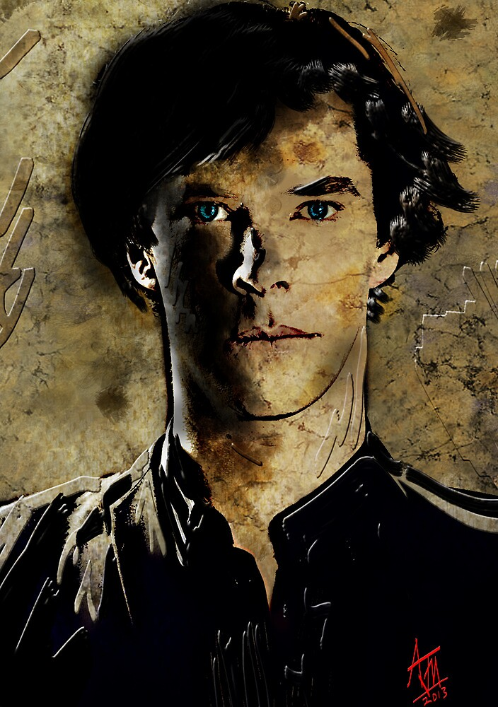 Portrait of Benedict Cumberbatch as Sherlock Holmes 2 by Andre Martin