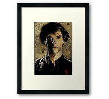 Portrait of Benedict Cumberbatch as Sherlock Holmes 2 Framed Print