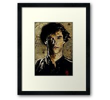Portrait of Benedict Cumberbatch as Sherlock Holmes 2 Framed Print