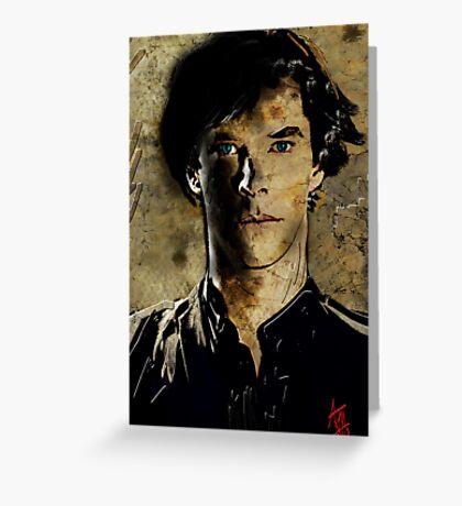 Portrait of Benedict Cumberbatch as Sherlock Holmes 2 Greeting Card