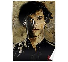 Portrait of Benedict Cumberbatch as Sherlock Holmes 2 Poster