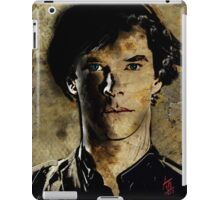 Portrait of Benedict Cumberbatch as Sherlock Holmes 2 iPad Case/Skin