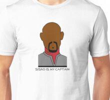 Sisko is my Captain (Dark Text) Unisex T-Shirt