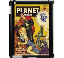 Retro pulp science fiction comic cover - Planet Stories iPad Case/Skin