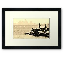 Fishing with Pop. Framed Print