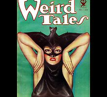 Retro Pulp Science Fiction comic cover  - Weird Tales by Jeff East