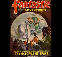 Retro Pulp Science Fiction comic cover  - Fantastic Adventures by Jeff East