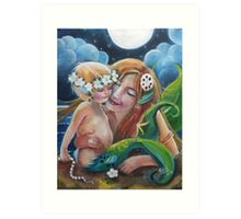 Happiness in the Sea Art Print