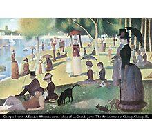 Georges Seurat - A Sunday on La Grande Jatte Photographic Print