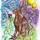 Spring Hare by Jenna Michelle Pink