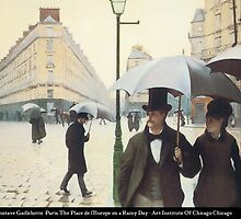 Gustave Caillebotte - Place de l'Europe on a Rainy Day by William Martin