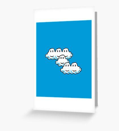 Mario Cloud Greeting Card