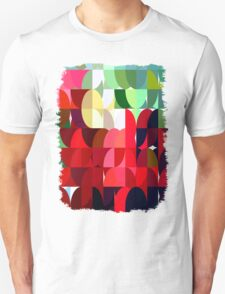Mixed color Poinsettias 3 Abstract Circles 1 T-Shirt