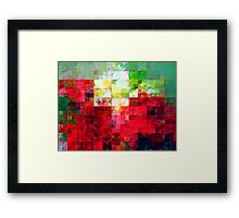 Mixed color Poinsettias 3 Abstract Circles 2 Framed Print