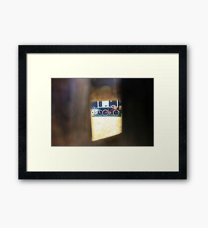 sneak a peek Framed Print