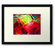 Mixed color Poinsettias 3 Abstract Polygons 1 Framed Print