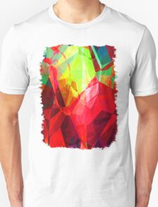 Mixed color Poinsettias 3 Abstract Polygons 1 T-Shirt