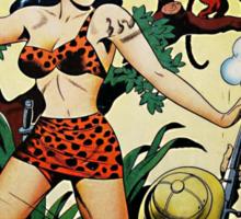 Retro Science Fiction Cover - Thrilling Comics Sticker