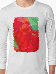 Mixed color Poinsettias 3 Abstract Polygons 3 Long Sleeve T-Shirt