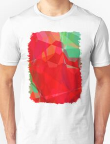 Mixed color Poinsettias 3 Abstract Polygons 3 T-Shirt